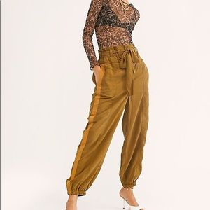 Free People Keep It Cinched Utility Pants Size M